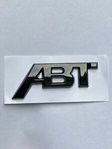 New ABT Gloss Black Badge Tailgate Rear Boot VW AUDI Skoda Seat Turbo RS R VAG