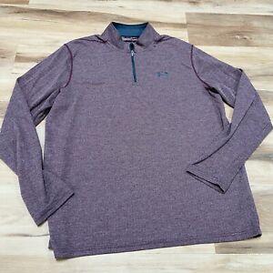 Under Armour Threadborne 1/4 Zip Loose Pullover Men's XL Long Sleeve Heatgear