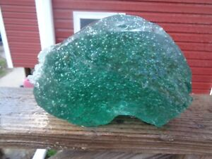 Glass Rock Slag Clear Green Bubbles 13.4 lbs TT66 Landscaping Aquarium