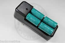 """4 PILES ACCUS RECHARGEABLE CR123A 16340 3.7V 1200mAh + CHARGEUR """" RAPIDE """""""