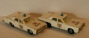 Lot of 2 Vintage Lesney Matchbox No. 55/73 w/2 COPS and BLUE LIGHT! Superfast