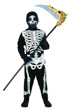 Skeleton Jumpsuit Boys Kids Scary Bones Halloween Costume Child Small