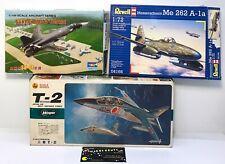 Lot Of 3 - Aircraft Model Kits Hasegawa T-2, Me 262 A-la, Sukhoi Su-47 Berkut