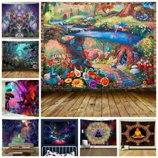 Trippy Hippie Tapestry Room Wall Hanging Scenery Psychedelic Tapestries Art Deco