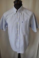 Vintage Pringle blue short sleeve shirt size small mod casual