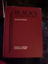 1999 BLACK'S LAW DICTIONARY, 7th edition, RED COVER, EX LIBRARY
