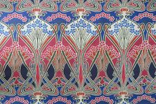 """LIBERTY ARTS CURTAIN FABRIC DESIGN """"Ianthe"""" 4.4 METRES IMPERIAL BLUE LINEN UNION"""
