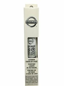 OEM Nissan (Pearl White, QAB) Touch Up Paint + Clear Coat Pen New Free Shipping