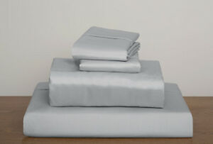 Silver Solid / Plain King Size Sheet Set 1000 Thread Count 100% Egyptian Cotton