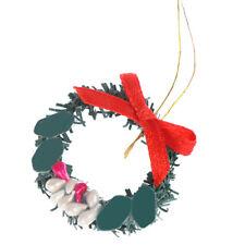 1/12 Doll House Xmas Wreath Dollhouse Christmas Tree Living Room Home Dec RR