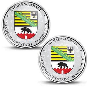3D Domed Sticker Badge Sachsen-Anhalt Stadt Magdeburg German Number Plate Seal