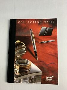 Mont Blanc Vintage Full Line Color Catalog 97 Pages Great Condition