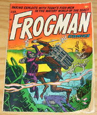 Frogman Comics #7 VG january 1953 - golden age hillman - underwater battle