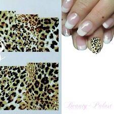 Nagel Sticker Leopard Nailart Tattoo Tiger Fullcover Sticker Leoparden XF8111