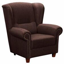 Bristol Ohrenbackensessel Sofa Sessel Einzelsessel Samtiger Veloursstoff Dunkelb