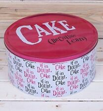The Bright Side xl Cake Tin - Cake (because I can) Gift Storage-extra large tin
