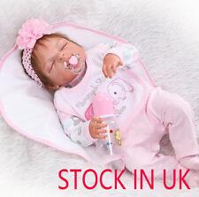 Full Body Silicone Reborn Baby Sleeping Doll Soft Vinyl Lifelike Newborn Bambole