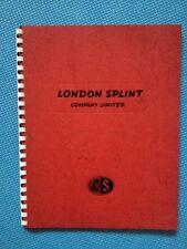London Splint Company Ltd-Orthopaedic Equipment Catalogue 1958 Medical Surgical