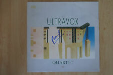 "Ultravox Autograph signed LP cover ""Quartet"" Vinyl"
