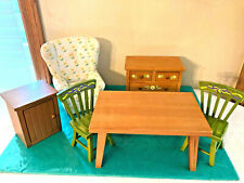 American Girl Doll Furniture Lot Angelina Ballerina Chairs Table Hutch Cabinet