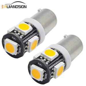 20x 24V BA9S T4W 233 5050 5 LED Parking Light Position Marker Lamp Amber Yellow