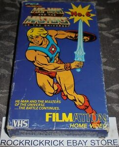 HE-MAN AND THE MASTERS OF THE UNIVERSE RARE VHS TAPE VOL 6 (3 EPISODES)