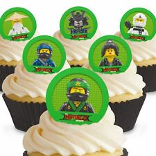 Cakeshop 12 x PRE-CUT Lego Ninjago Movie Edible Cake Toppers