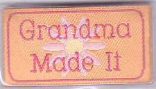 "BLUMENTHAL LANSING IRON ON LOVE LABELS - ""GRANDMA MADE IT"" - SET OF 4 PIECES"