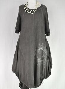 KEKOO Washed Grey Parachute Dress Size XL/XXL