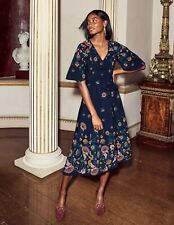 BODEN  New Emilie Midi Dress - Navy Floral - UK 16 R - 2018/19 - W0235