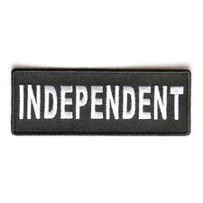 Embroidered Independent Black White Sew or Iron on Patch Biker Patch
