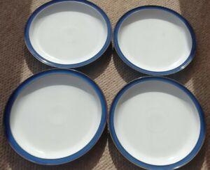 Denby Imperial Blue Four Dinner Plates