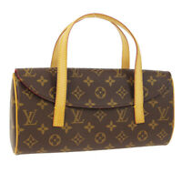 LOUIS VUITTON SONATINE HAND BAG PURSE MONOGRAM CANVAS M51902 AUTH VI0092 WA00834