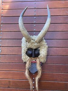 A Stunning old Traditional Folk Art Buso Busójárás Festival Mask Mohács Hungary