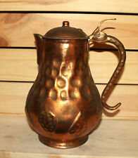 Vintage hand made wrought copper pitcher jug
