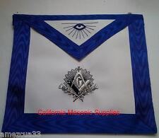 Blue Lodge Master Mason Regalia apron Silver Bullion Embroidery Work Freemasonry