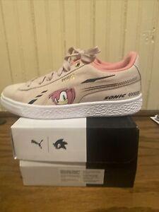 Puma Suede SONIC PS Rosewater Preschool Girls Casual Shoes 371998-02 13.5 C