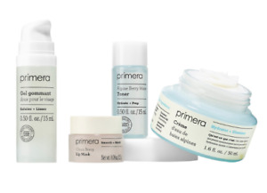 NIB Primera ALPINE BERRY WATER CREAM Facial Peeling Gel BERRY LIP MASK Toner Kit