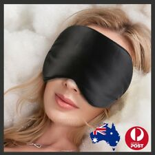 100 Pure Silk Sleeping Sleep Eye Mask Blindfold Lights Travel Relax Soft