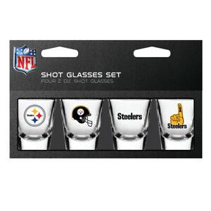 Pittsburgh Steelers NFL 2 oz Shot Glasses Set 4 Pack