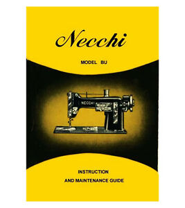 NECCHI BU INSTRUCTION / Operating Manual on CD or Download