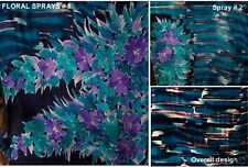 MARVELOUS 6 CHOICES HAND PAINTED SILK FABRICS FOR ONE OF A KIND DRESS CREATIONS