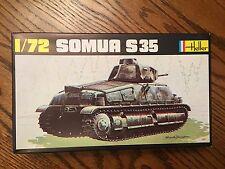 HELLER WWII SOMUA S35 CAVALRY TANK  NIB #197 SCALE 1:72 MODEL KIT