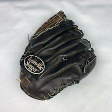 "Louisville Slugger Baseball Glove 11.25"" L1125 Brown Leather Used Left Hand"