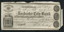 1848 $109.21 THE ROCHESTER CITY BANK CERTIFICATE DEPOSITE ROCHESTER, NY