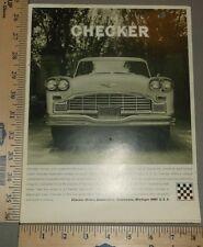 1967 Checker Marathon Taxi Cab Sales Brochure and Supplement