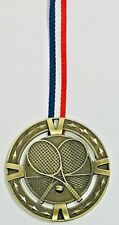 Tennis gold metal medals,ONLY 1 SET of 11 Available FREE RIBBONS & P&P