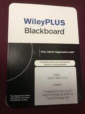 WileyPLUS BlackBoard Access Code Professional Baking 6th Edition Gisslen E-Text