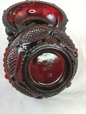 Avon 1876 Cape Cod Ruby Red Glass Dessert Bowls Dishes