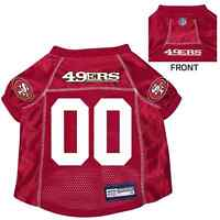 NEW SAN FRANCISCO 49ERS PET DOG PREMIUM NFL JERSEY w/NAME TAG ALL SIZES